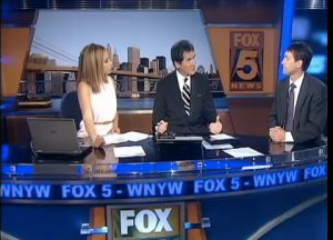 Dr. Geier discussing youth sports on Fox 5 in New York.