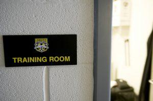 Soccer training room