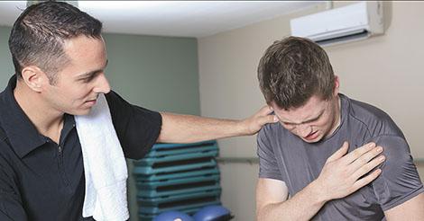 Pectoral injury causing shoulder pain