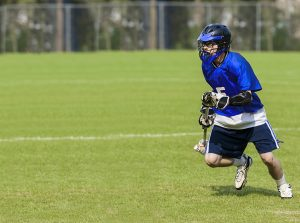 Male lacrosse player