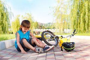 Boy bike accident