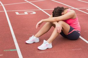 Track runner sad