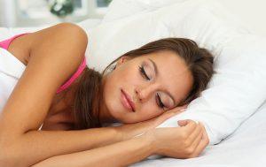 Sleeping comfortably