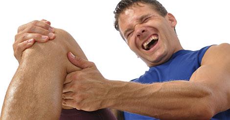 Man suffers serious knee injury