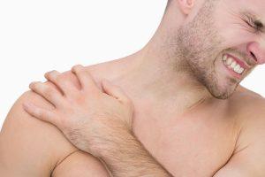 Man suffers a pectoral tendon rupture