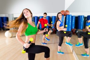 Exercising with friends can help you stick to a new workout program.