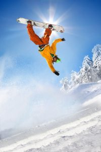 Kids need to learn skiing and snowboarding stunts with a coach.