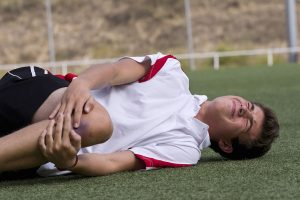 A young soccer player suffers a tibial spine avulsion