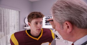 All athletes should get examined after a head injury to rule out a concussion.