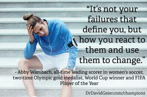 Abby Wambach on reacting to failure