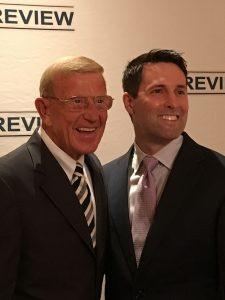 Dr. David Geier with coach Lou Holtz