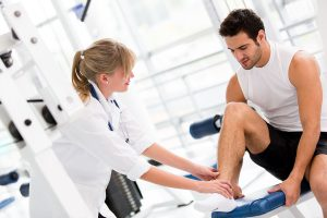 Physical exam of the ankle to detect an osteochondral lesion of the talus