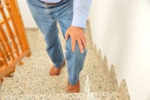 Older man whose knee pops and cracks