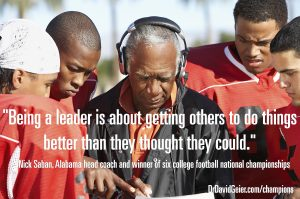 Nick Saban on being a leader