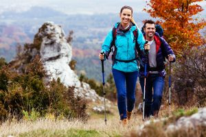 Hiking can be a great way to exercise on vacation