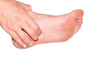 Man with pain consistent with plantar fasciitis