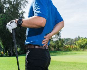 Golfer with low back pain
