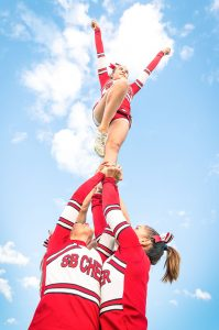 The Healthy Sport Index ranks cheerleading tenth out of ten for girls sports.