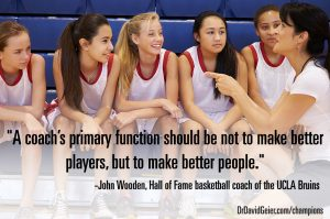 John Wooden wanted to make better people.