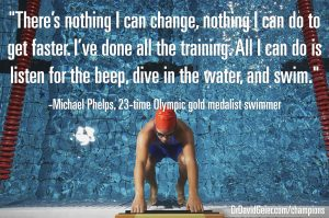 Michael Phelps on being prepared