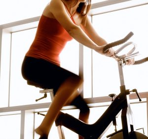 A stationary bike is one way to exercise if you have to keep weight off your leg