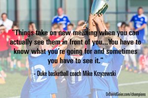Coach K on visualizing your goals